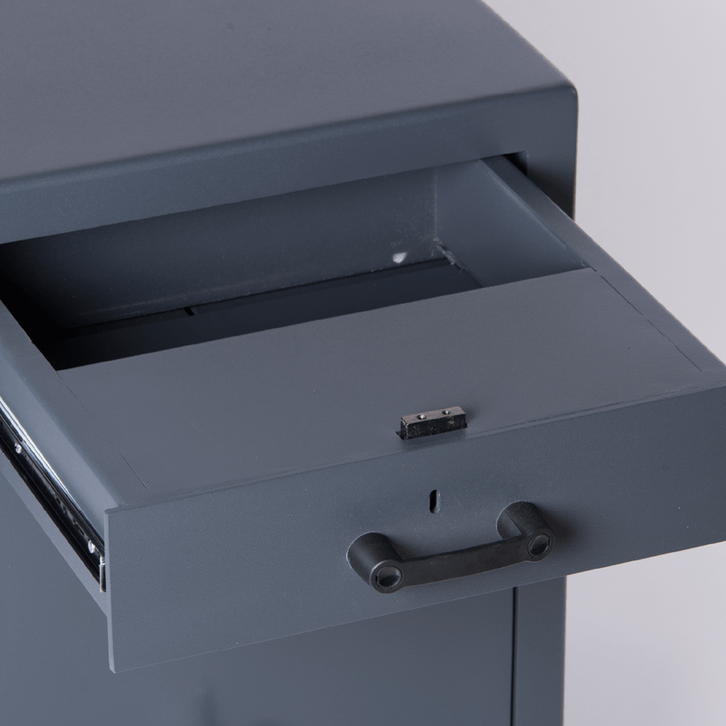 Drawer Trap Deposit Safe - Drawer Open - Detail Shot - SMP Safes - Graded Safes - Deposit Safes - Commercial Security